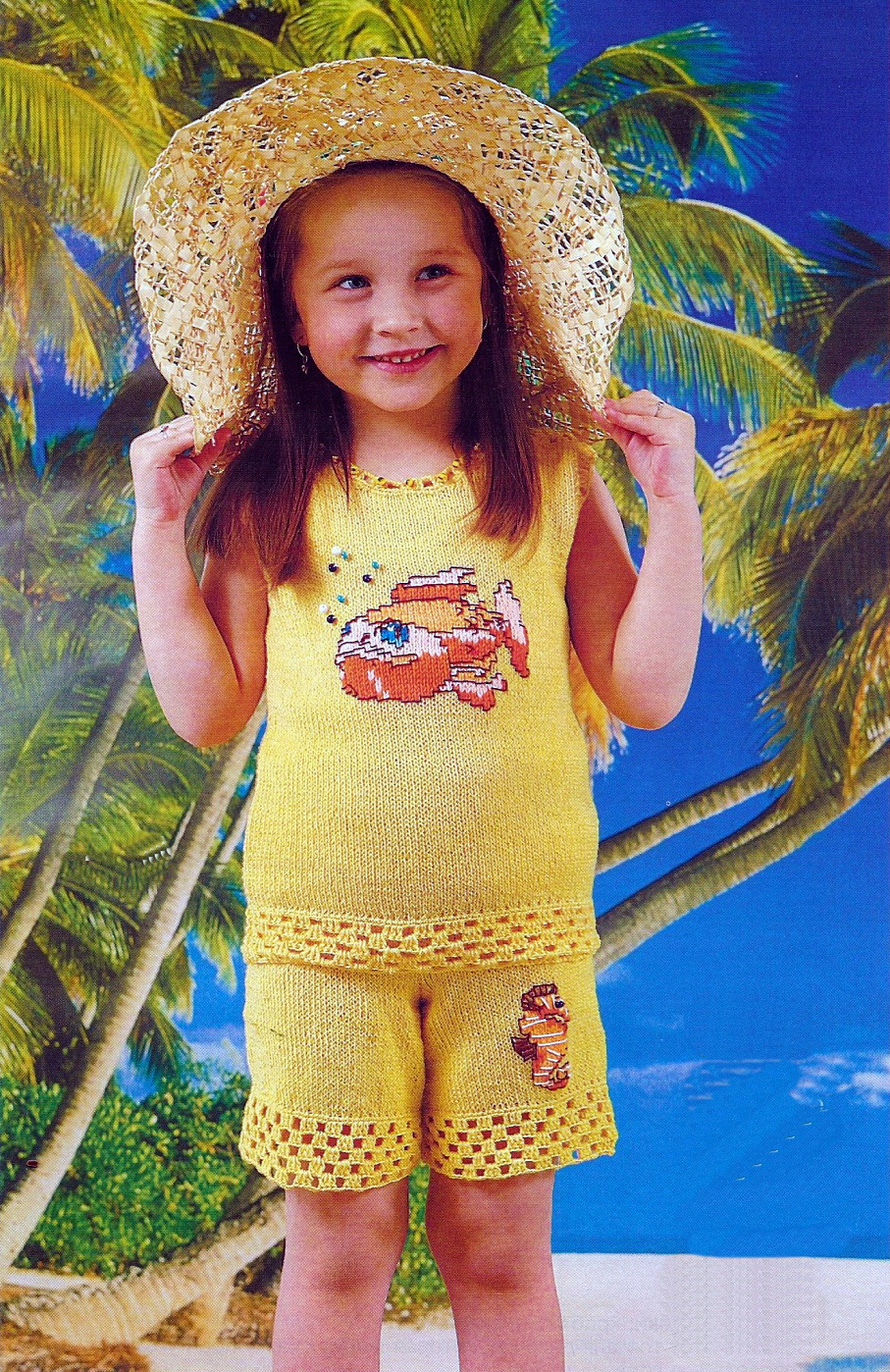 Вязание маленьким девочкам для лета 909