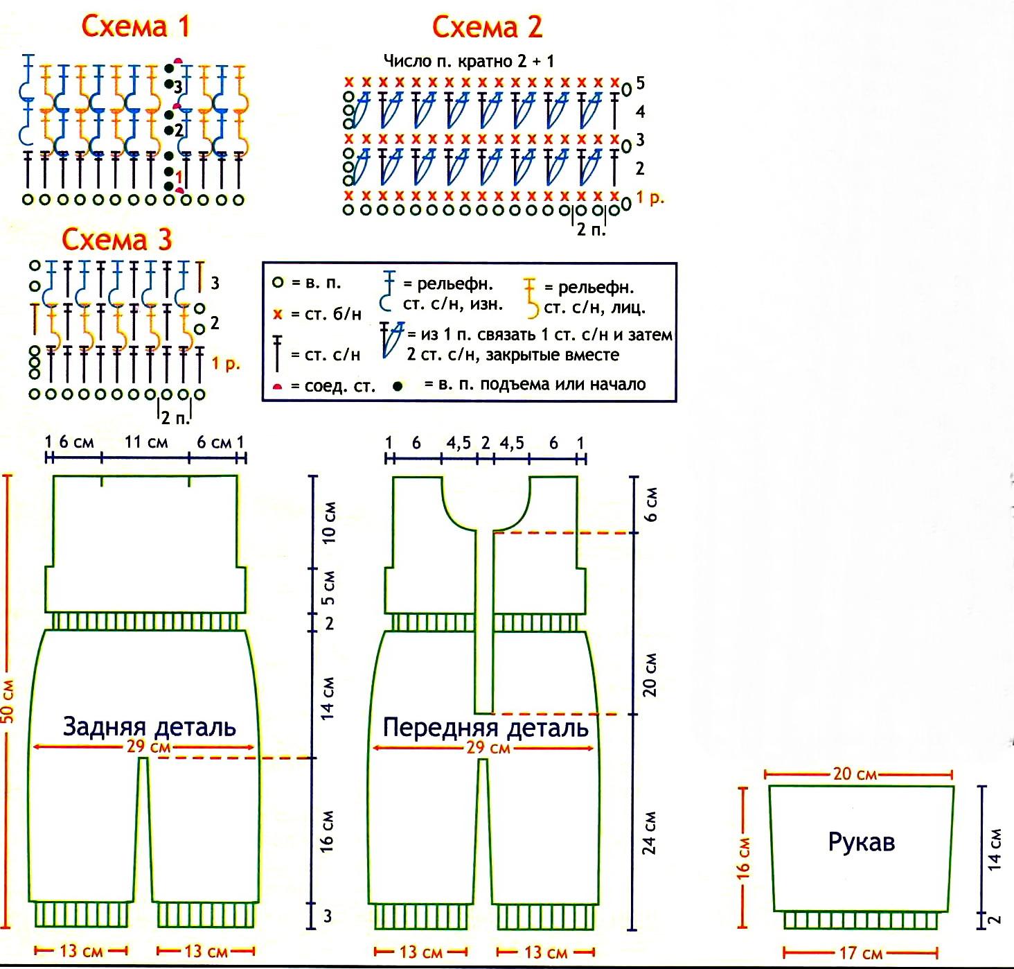 Описания моделей, схемы и выкройки