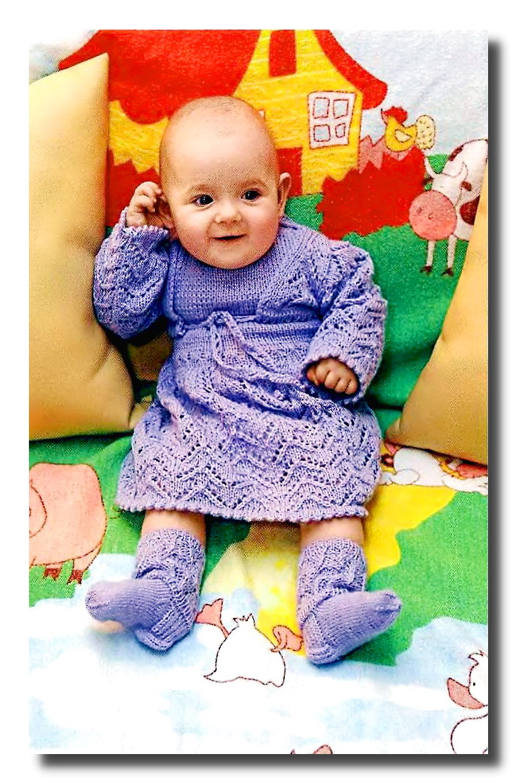 болеро для малышки, связанные спицами