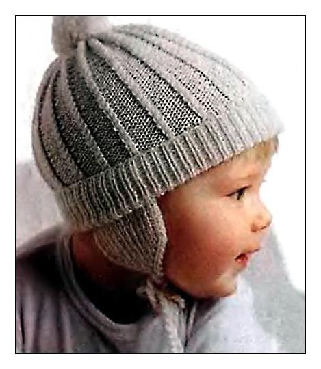 Вязание спицами для детей шапки.