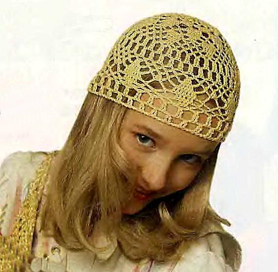 Вязание шапок и шарфов для девочек