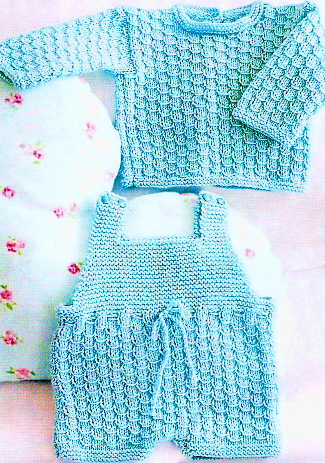 комбинезон и джемпер для малыша вязание спицами для детей