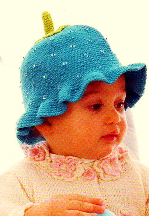 вяжем шапки малышам спицами.