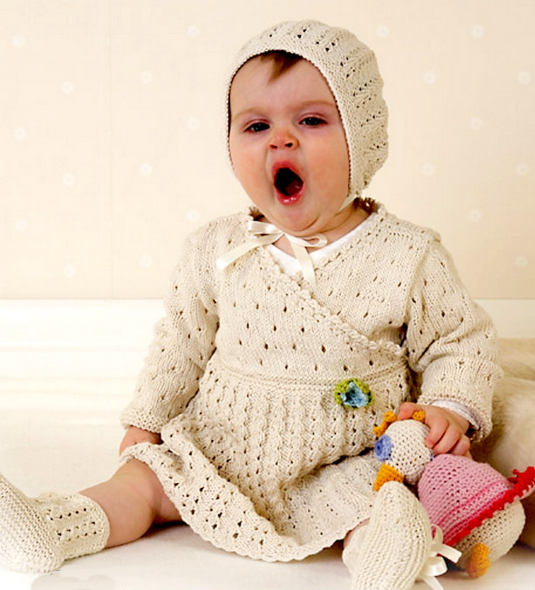 Платья для малышей вязание