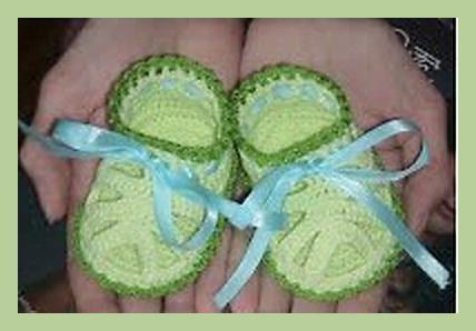 схема вязания пинетки для девочки