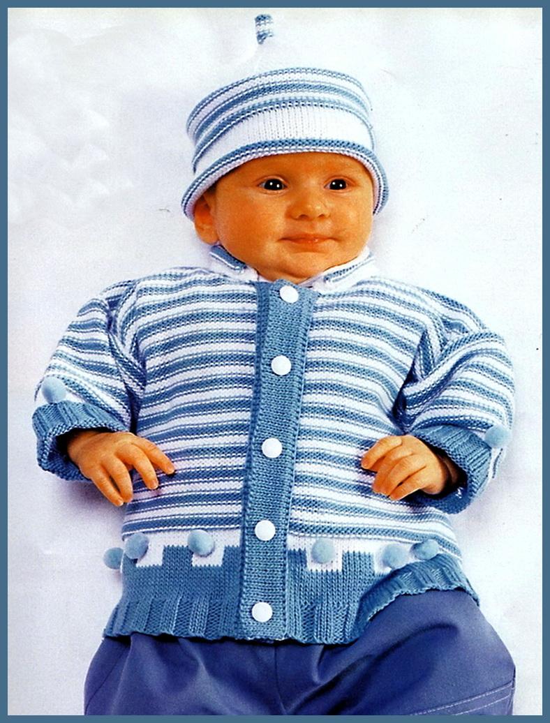 Вязание малышам спицами комбинезон