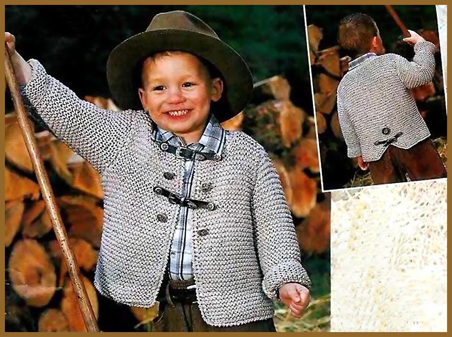 Вязание жакет для мальчика 5 лет 44