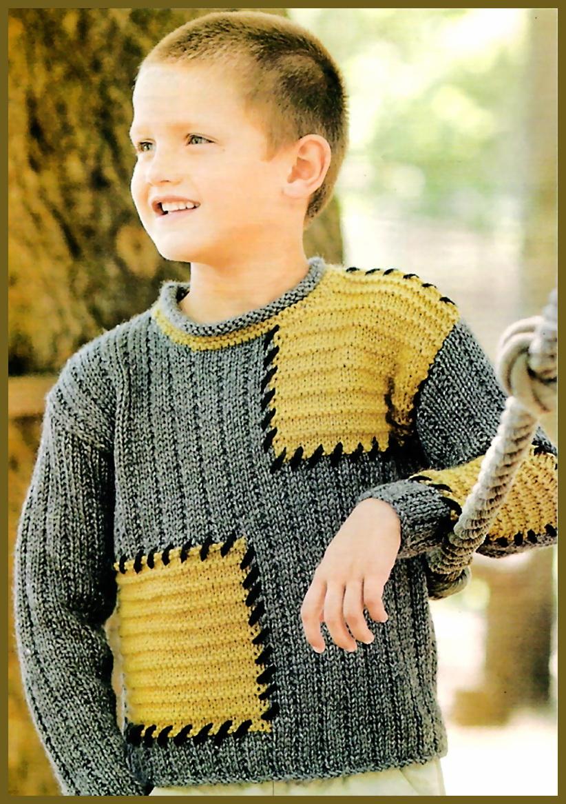 Модные модели вязанье для мальчиков