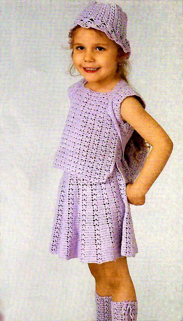 Для детей вязание платьев для