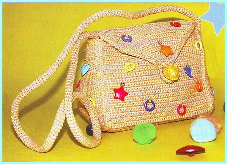 вязание крючком сумки для девочек.