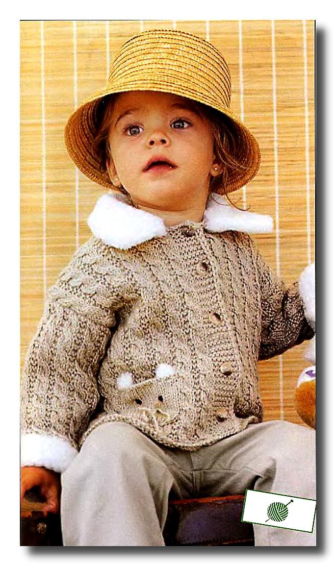 Вязание кофточек на спицах для маленьких