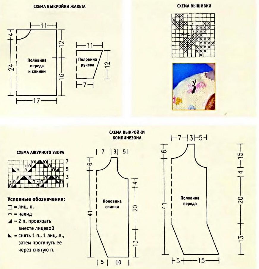 Вязание спицами детский костюмчик схема 333