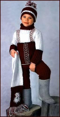 Схемы вязания жилетов мальчикам