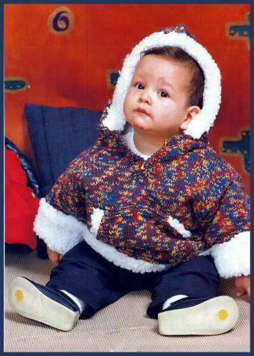 Вязаная детская курточка схемы