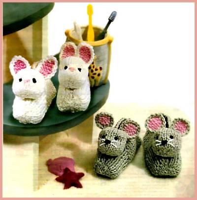 Вязание спицами туфелек