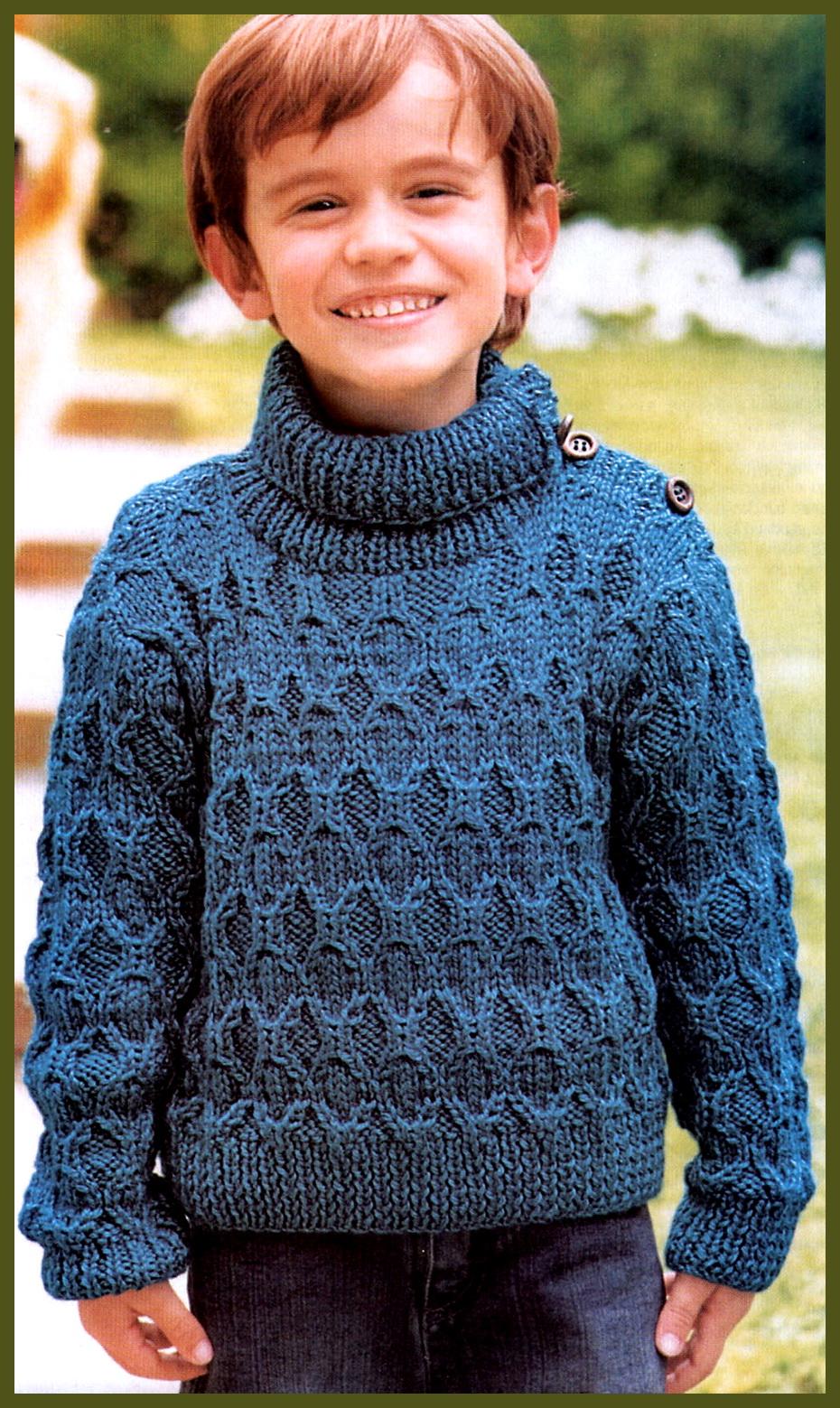 Свитер-реглан для мальчика - Свитера и кофты - Схемы вязания.