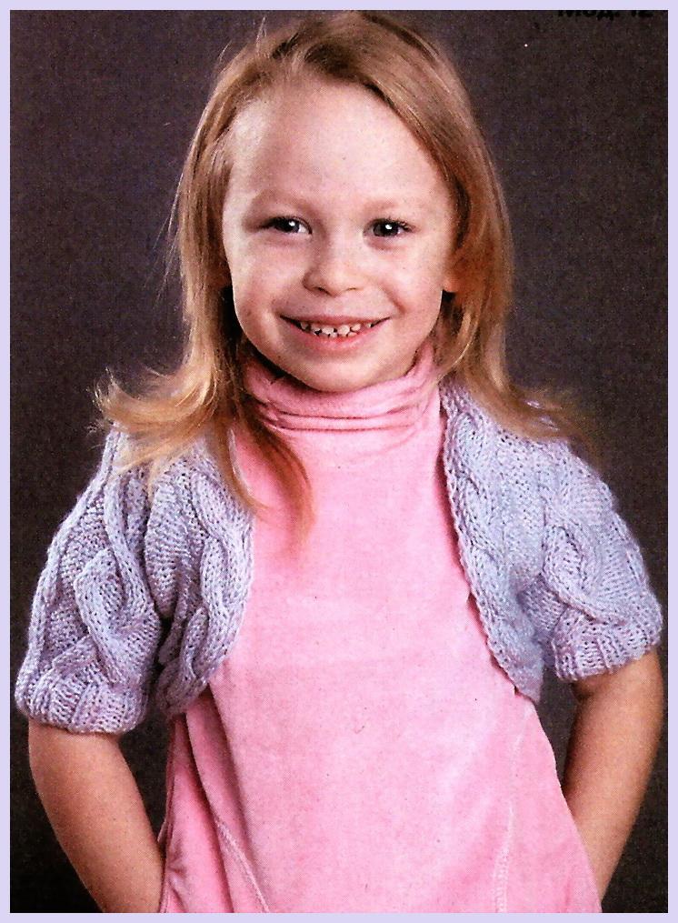 Вяжем болеро на девочку 3 года спицами