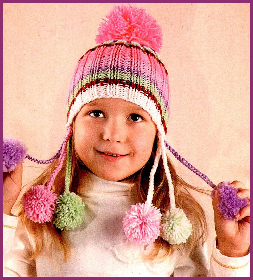 Разноцветная шапочка