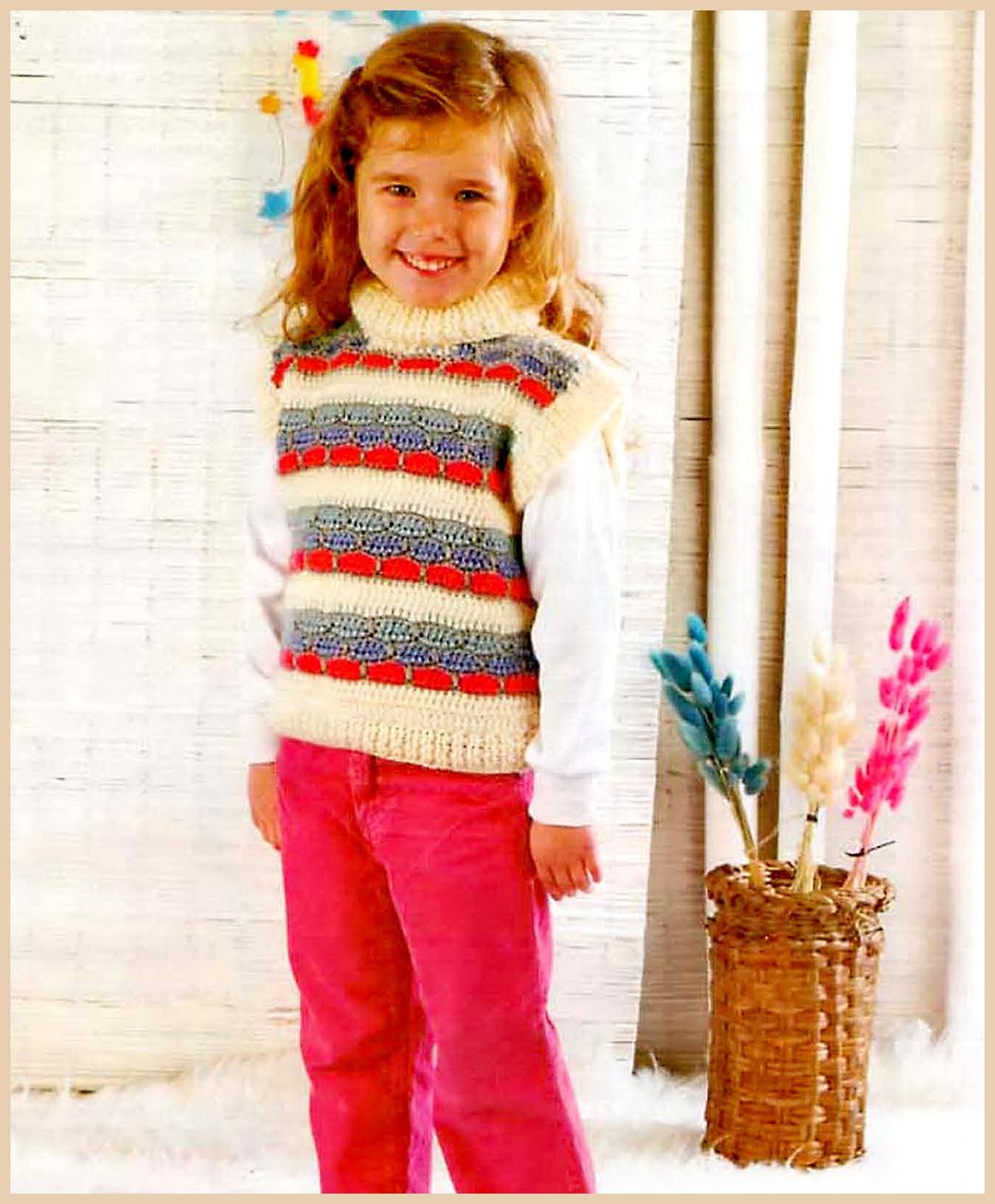 Фото жилеток крючком для детей