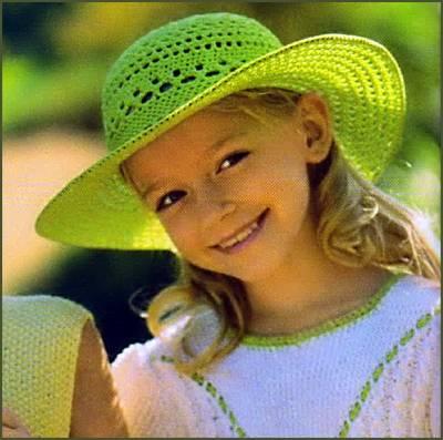 вязание солнечных шляпок для девочки