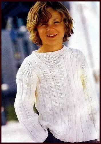 Пуловер для подростка вязание 43