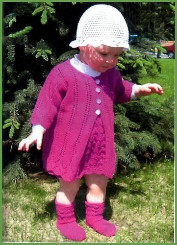 Вязание пальто для девочек - Вязание.  Автор:Admin.