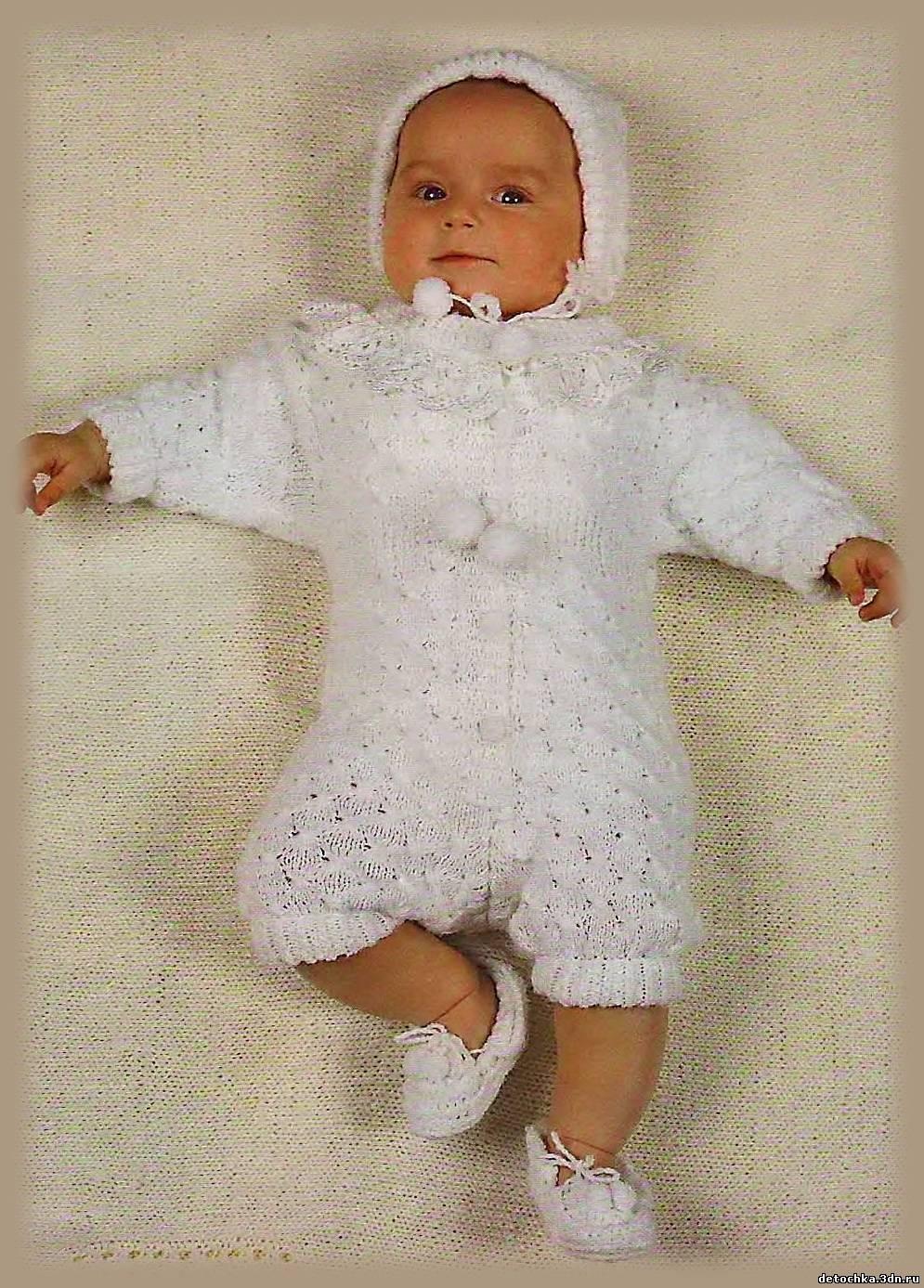 Вязаные вещи спицами для новорожденных