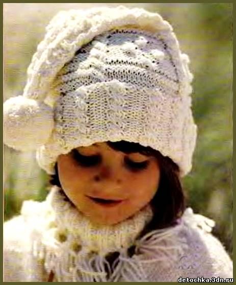 Белая шапочка для девочки