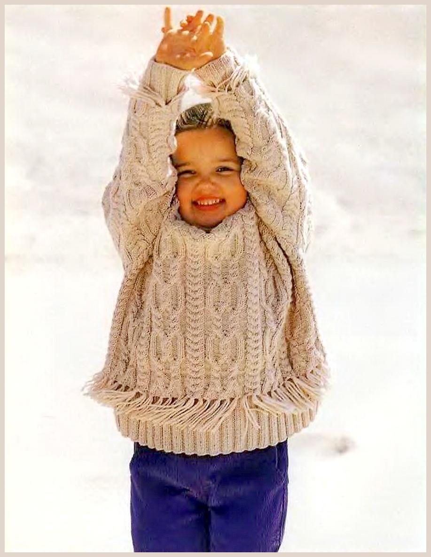 свитер мальчику спицами схема ргст 130