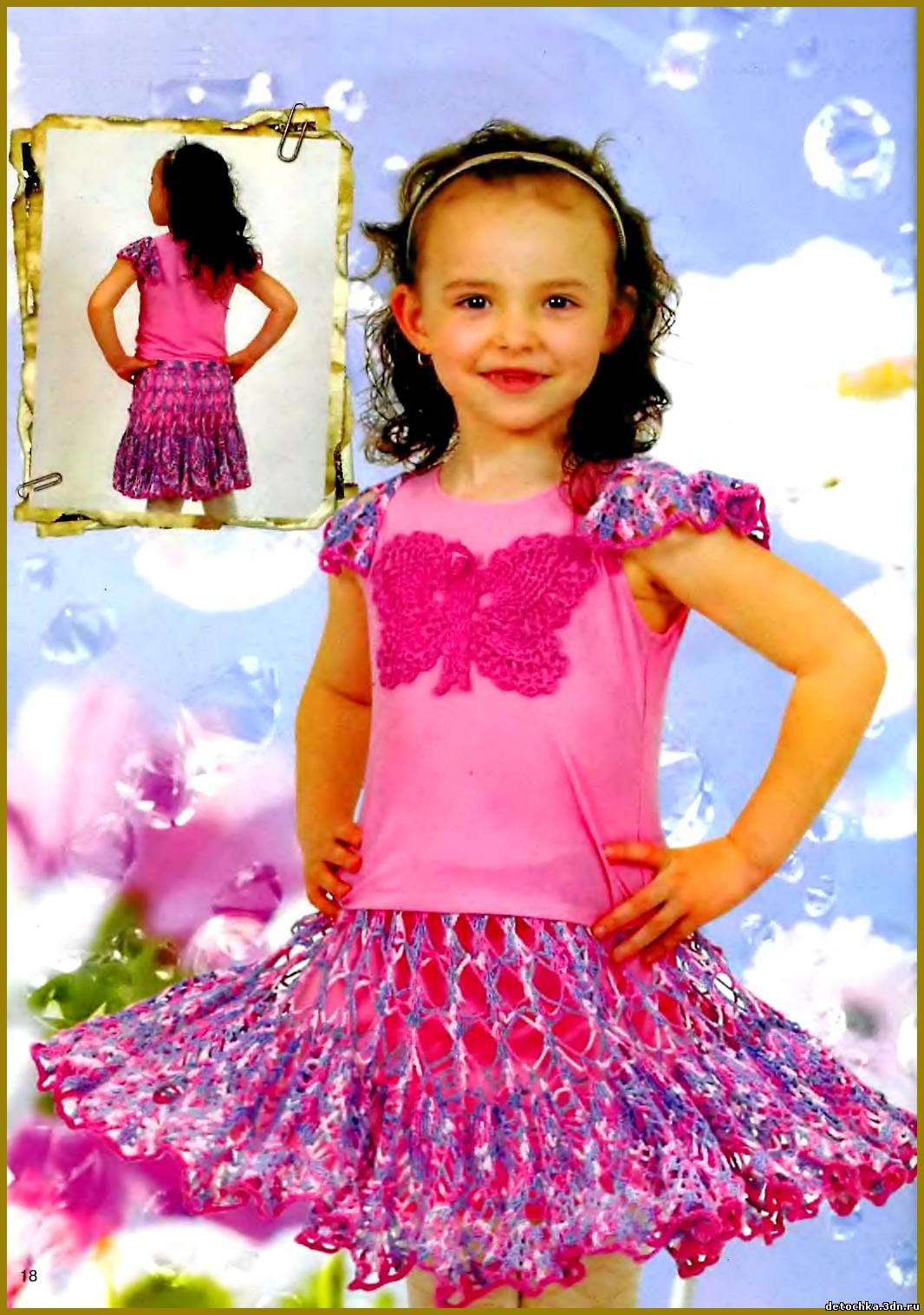 юбка крючком для девочки Вязание. юбка крючком для девочки.