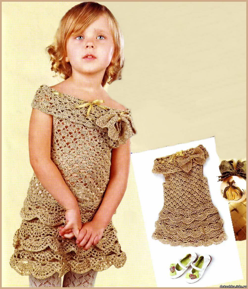 платье для девочки. Вязание крючком