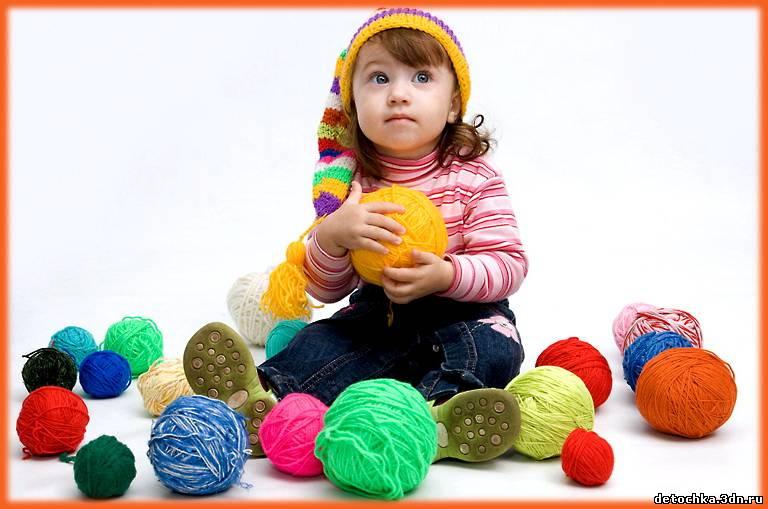 Обучение вязанию детей спицами 75