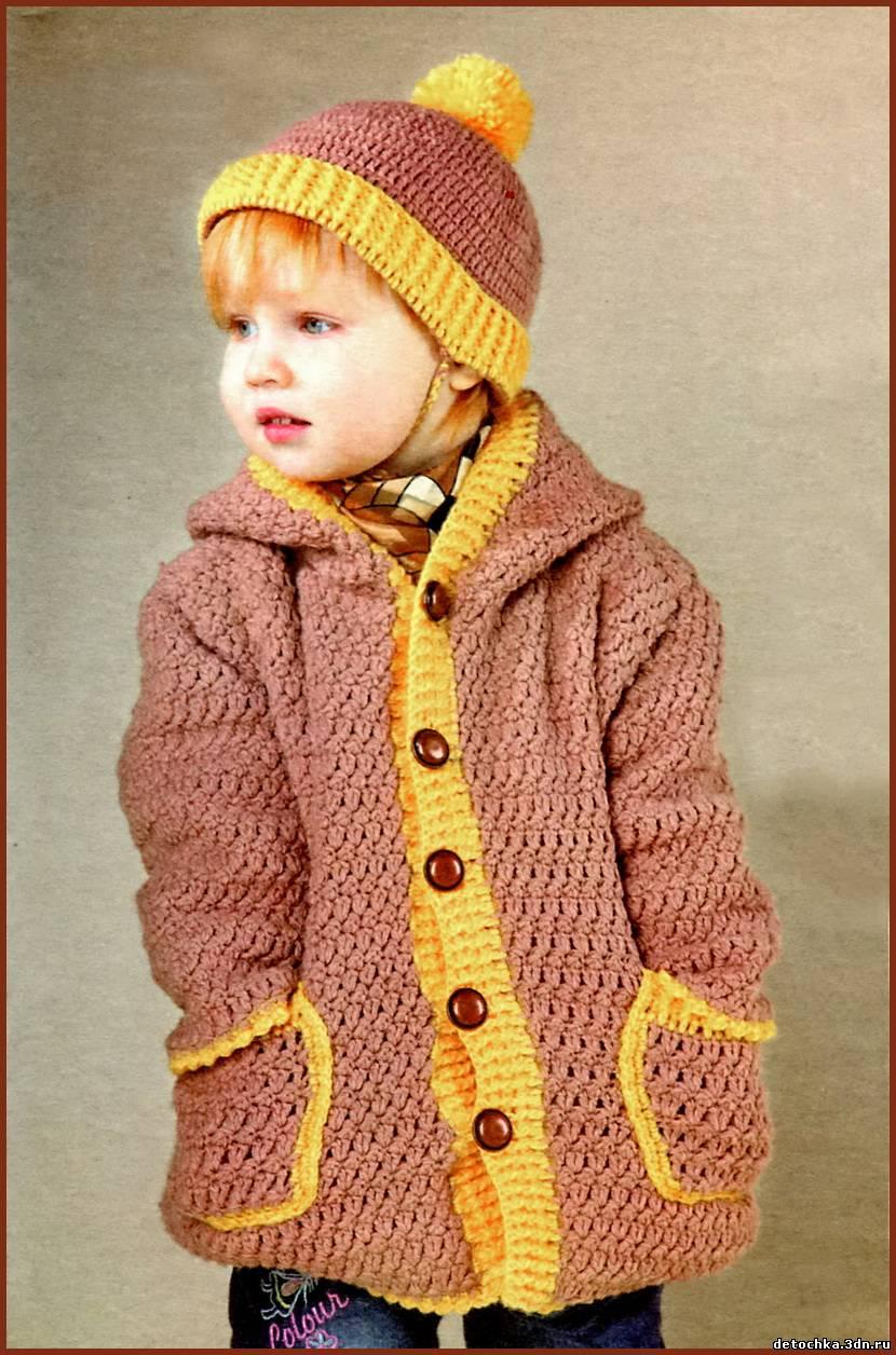 вязаные пальто крючком девочкам 1 2 года вязание крючком
