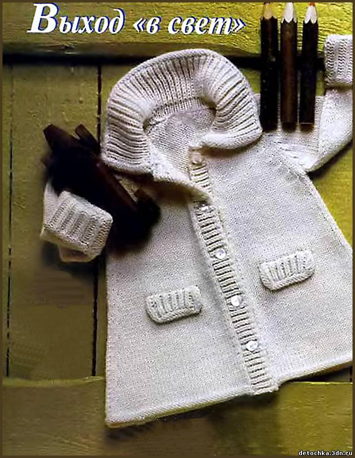Вязание спицами - Вязаное пальто для детей - вязаное пальто для де