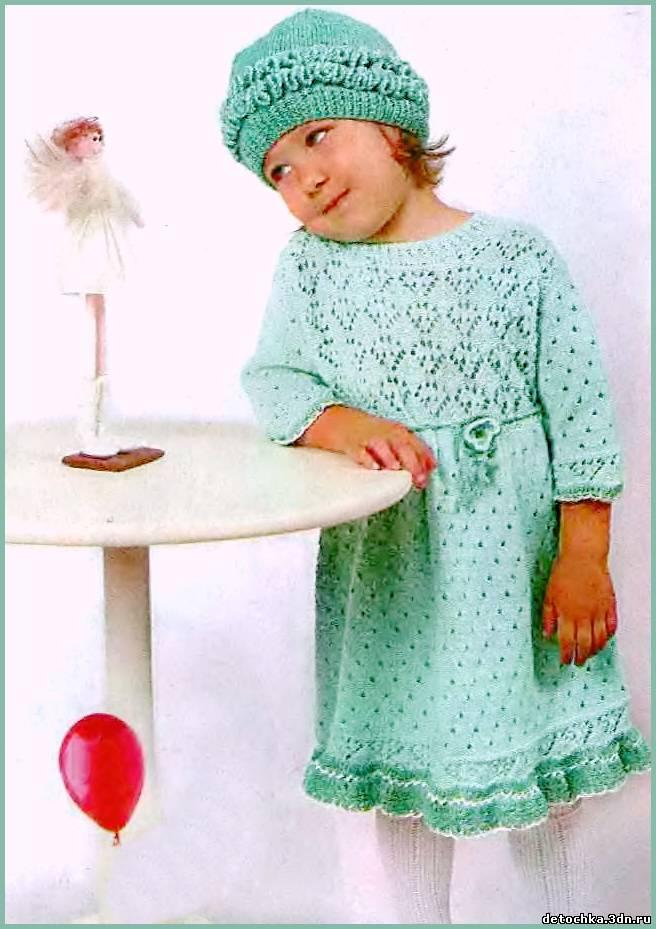 Платье для девочки связанное