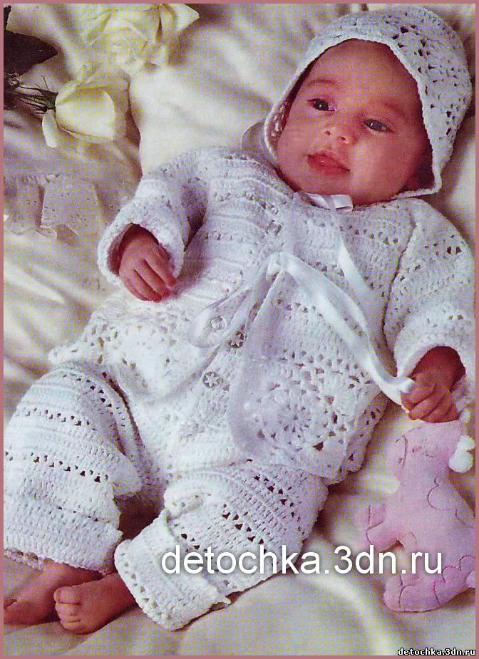 домашнее рукоделие схема вязания кофточки для новорожденного