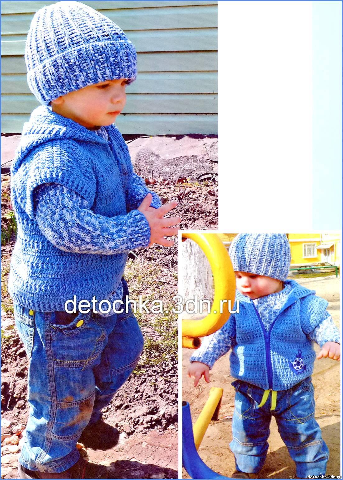 Вязание костюм для мальчиков