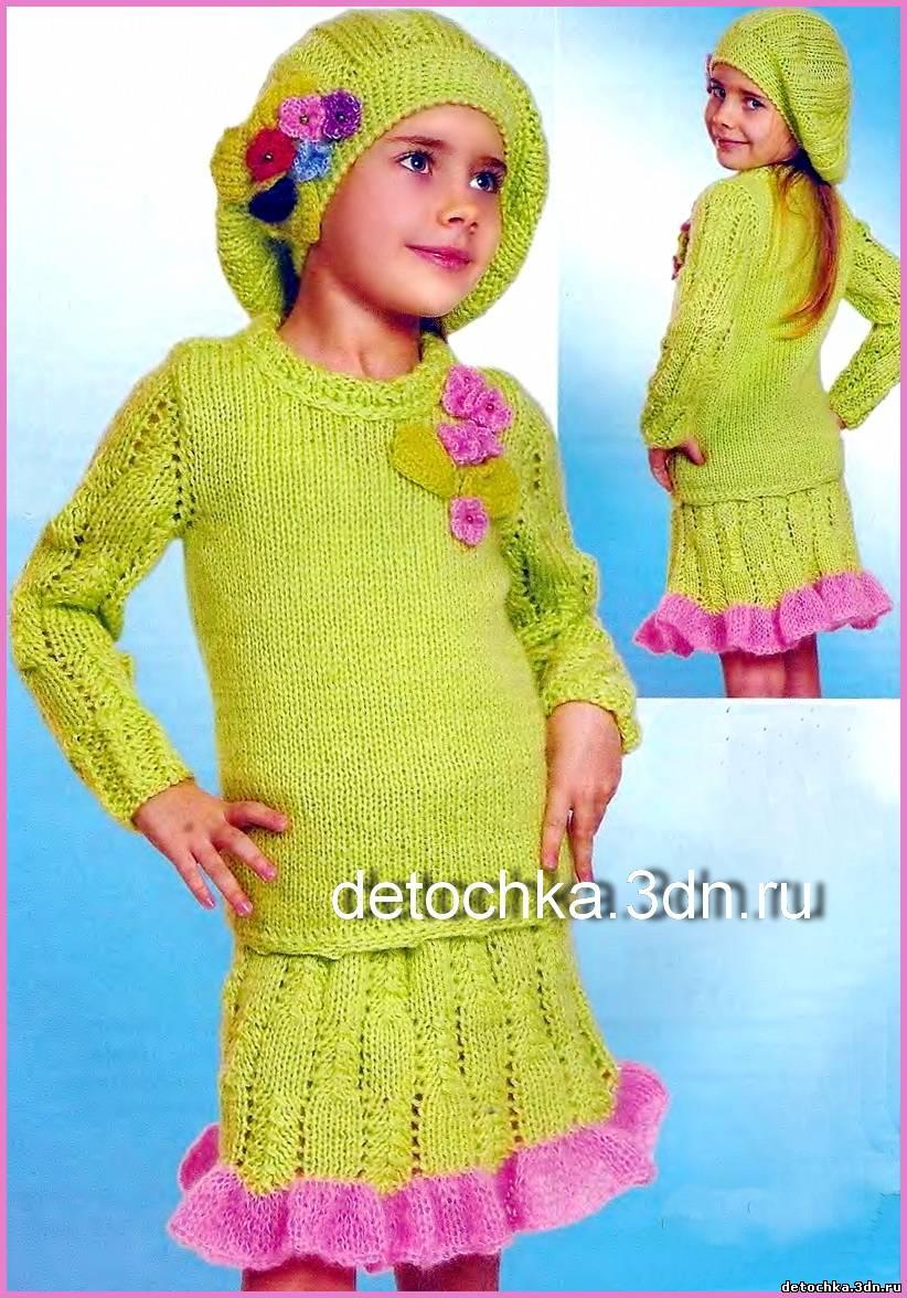 схема вязания детских штанишек на 9 месяцев