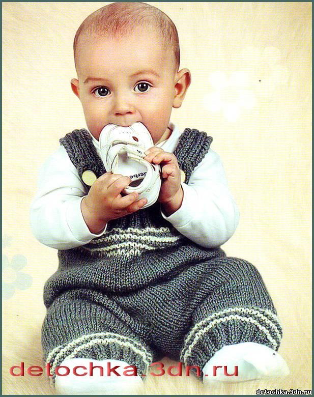 Вязаный комбинезон для малыша. Чтобы вашему сыночку было тепло предлагаем связать штанишки для мальчика. Возраст: 8-10 месяцев