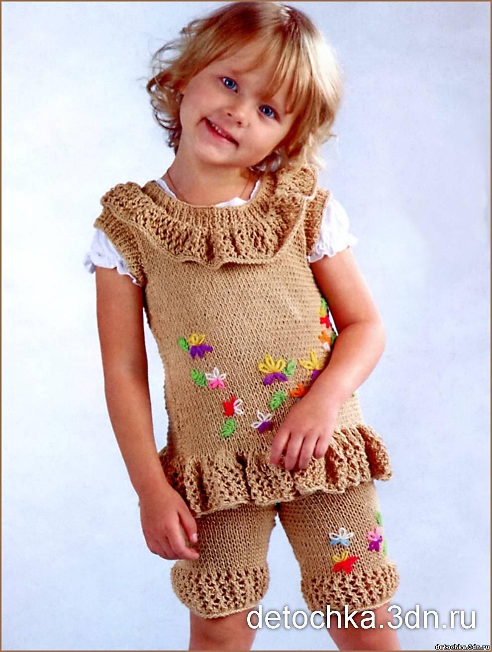 394Плотное вязание девочкам