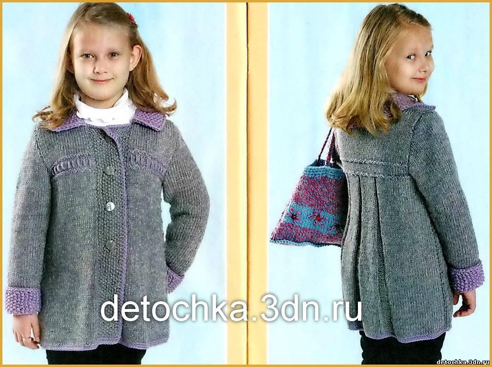 Как связать пальто для дочки?