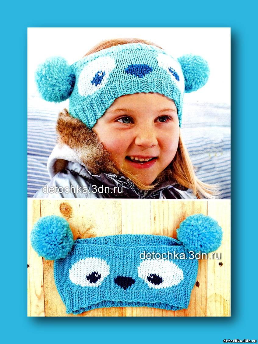 Вязание шапок для подростков на спицах