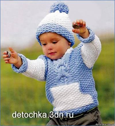 вязание джемпера для мальчиков 5 лет
