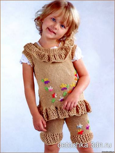 Вяжем детский костюм спицами