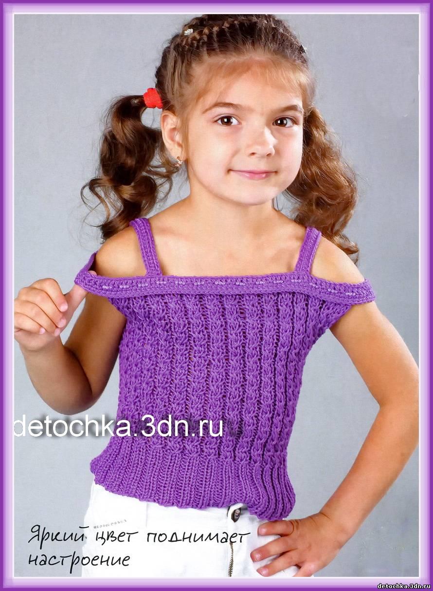 Вязание для девочек крючком возраст 4-6 8-10 лет 72