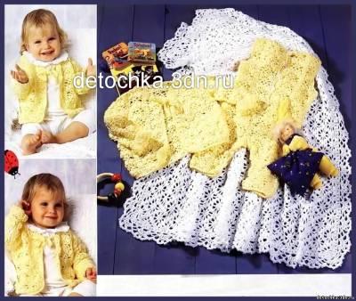 вязаное платье для девочки крючком с описанием