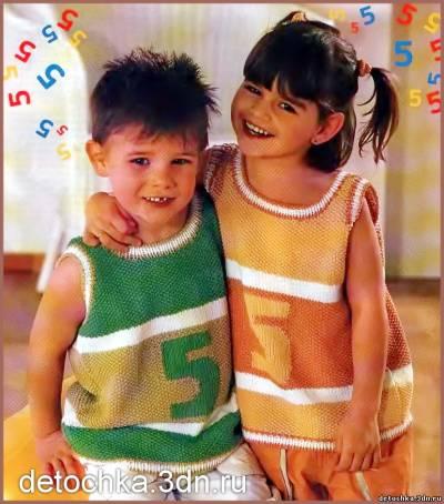 вязание безрукавки для малышей