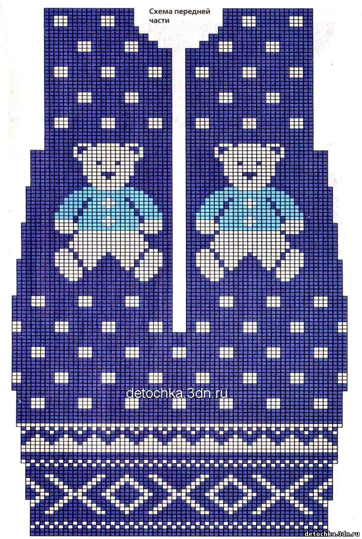 Схемы вязания уголков для новорожденного