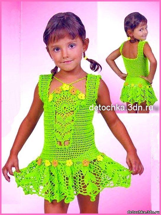 яркий детский сарафан вязание сарафанов для девочки вязание