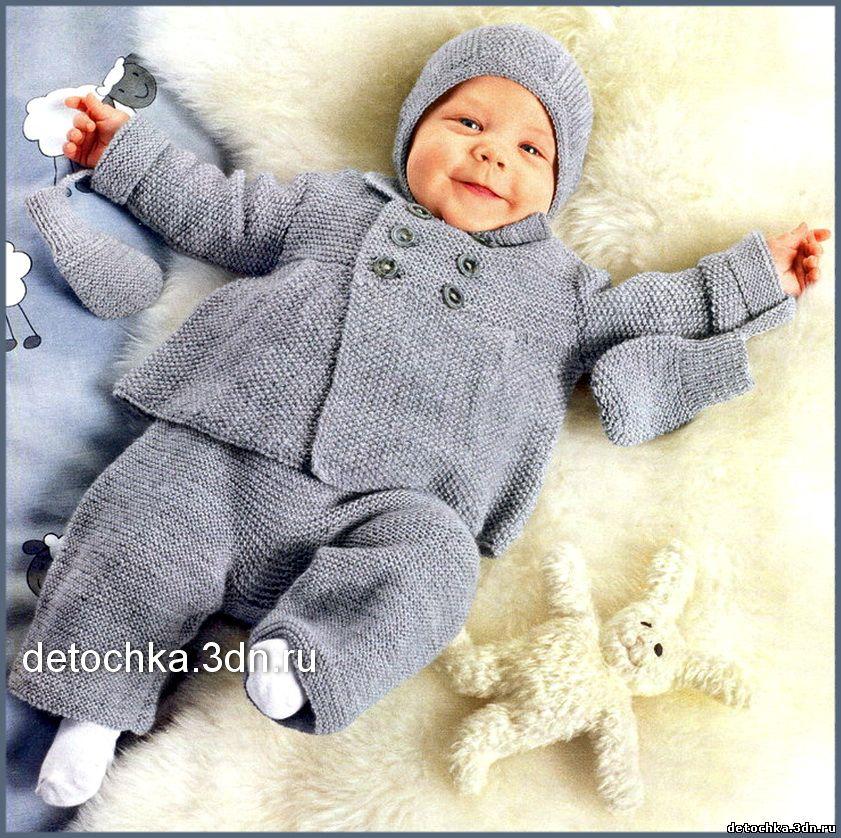 Вязание для мальчика 6 месяцев шапочку спицами